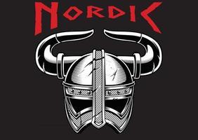 Viking northern helmet vector