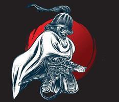 samurai warrior japan vector