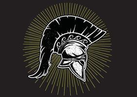 warrior viking helmet vector