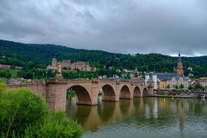 View of the beautiful medieval city of Heidelberg, Germany photo
