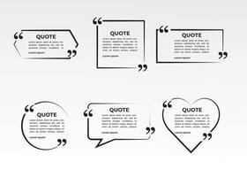 quote bubble frame set collection vector