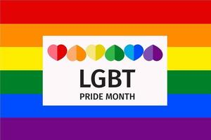 diseño del mes del orgullo lbbt vector