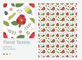 Red Camellia Flower This intense pattern design. vector