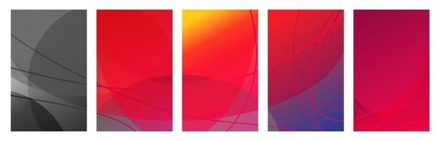 Multicolored abstract background for stories consisting of circles and lines, social networks. Vector Illustration