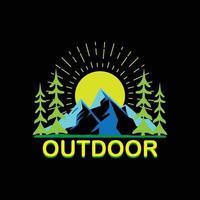 Outdoor mountain illustration vector
