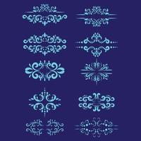 Set ornaments drawing vector