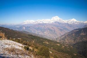 Scenery of Annapurna Massif in the Himalayas in Nepal photo