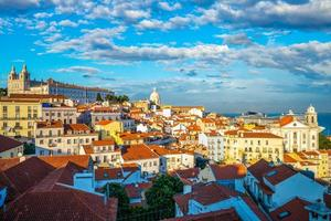 Skyline of Alfama district in Lisbon, the capital of Portugal photo