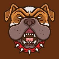 bulldog head logo esport illustrator vector