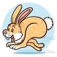 running rabbit clip art illustration vector