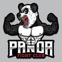 strong panda esport mixed martial arts logo vector