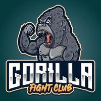 strong gorilla esport mixed martial arts logo vector