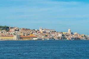 Skyline of Lisbon by the Tagus river in Portugal photo