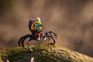 Warsaw 2020 - Lego Spaceman minifigure riding on huge spider photo