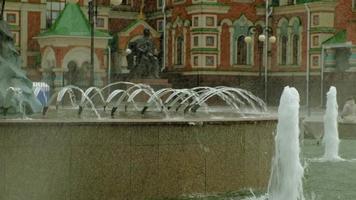 fontaine de la ville été journée ensoleillée video