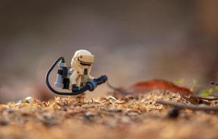 Warsaw, Poland, Apr 2019 - Lego Star Wars mini-figure sandtrooper photo