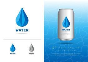 Polygonal Style Water Logo vector