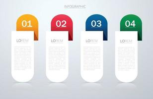 Info graphic template with 4 options. Can be used for web, diagram, graph, presentation, chart, report, step by step infographics vector