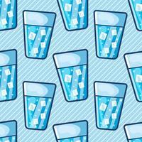 agua helada en vidrio ilustración de patrones sin fisuras vector