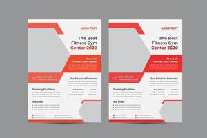 Body Fitness Gym Flyer Template vector