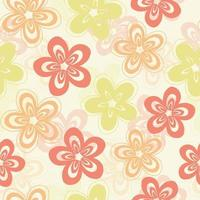 SEAMLESS MULTICOLOUR HAND DRAW DOODLE FLOWER PATTERN BACKGROUND vector
