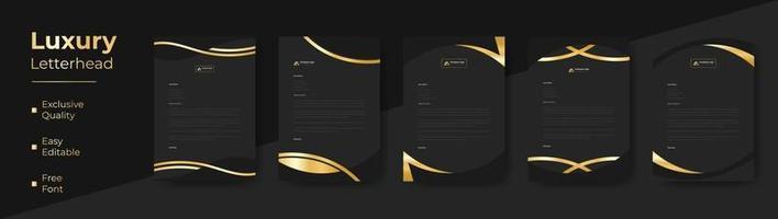 Modern Luxury business style letterhead bundle for corporate project design. corporate letterhead bundle. corporate letterhead set. vector