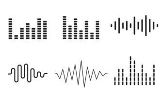 Audio wave set Sound wave vector