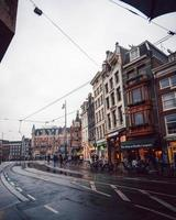 Amsterdam, Netherlands 2018- Rows of buildings in Amsterdam photo