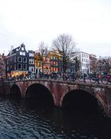 Amsterdam, Netherlands 2018- Waterfront view of Amsterdam photo