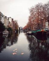 Waterfront view of Amsterdam, Netherlands photo