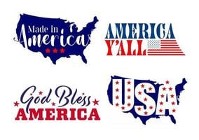 Vector set of graphic design 4th of july. Independnce day illustrattion Quotes and logo design. Vector Illustrate.