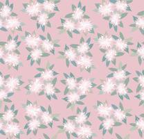 patrón floral sin fisuras. flor de crisantemo ornamental textura oriental. con fondo de jardín de flores. vector
