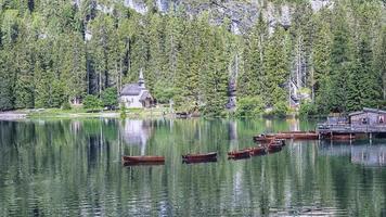 Lago di Braies - Pragser Wildsee, South Tyrol, Italy photo