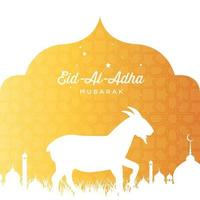 Eid Al Adha illustration vector graphic of good for islamic day, eid mubarak, eid fitr, greeting card, background. Eps 10