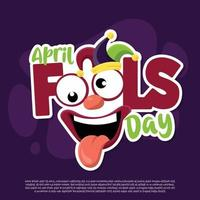 April Fools Day Vector With flat design, simple and trendy graphics
