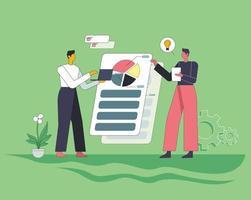 Data analysis concept illustration vector