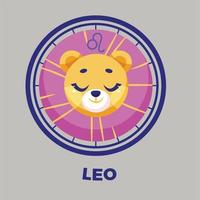 Ilustración de vector de diseño plano de signo del zodiaco