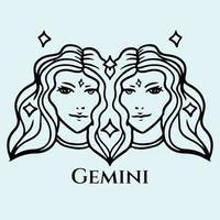 zodiac sign flat design vector illustration