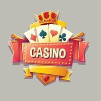 casino building retro signboard vector illustration