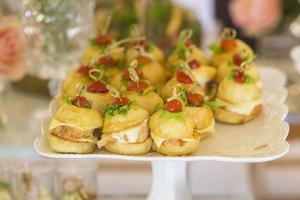 Wedding food in wedding ceremony photo