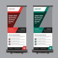 Business Conference Roll Up Banner vector