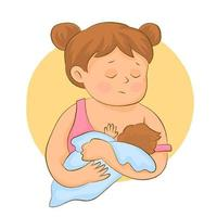 Pregnancy, motherhood, people and expectation concept vector