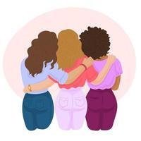 8 march international women's day concept vector