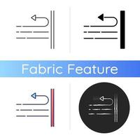 Windproof fabric feature icon vector