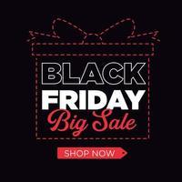 Black Friday Big Sale Background vector