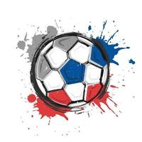 Russia football team symbol. Realistic watercolor art paint with stained splash color. vector