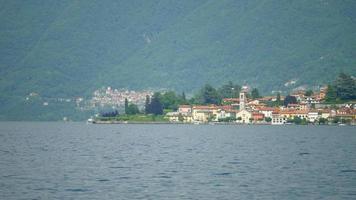 Village luxury resort town on Lake Como, Italy, Europe. video