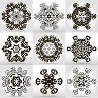Tattoo Mandala Design set vector