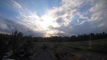 Sunset, traveling in exotic tropical Bali, Indonesia. video