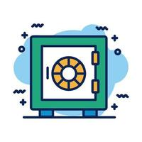 safe box detail style icon vector